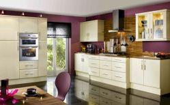 Kitchen With Purple Walls