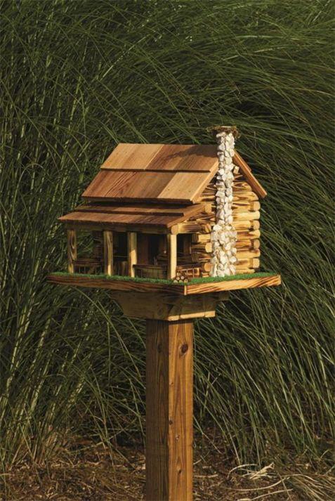 Log Cabin Bird Feeder Plans