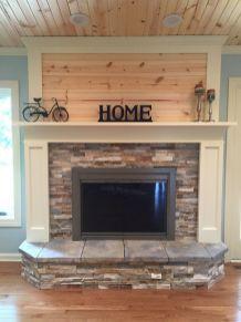 White Wood Fireplace Surround Ideas 5