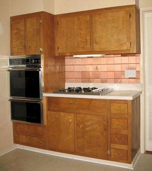 1950s Wood Kitchen Cabinets