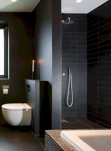 Bathroom Shower Tile With Black