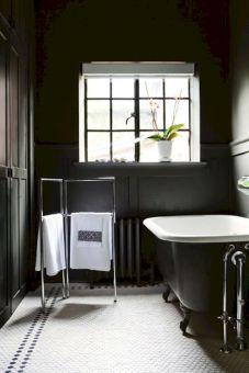 Bathroom With Black Wall