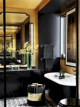 Black And Gold Bathroom Design
