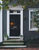 Blue Door Yellow House White Trim