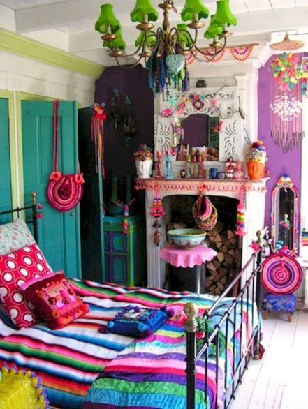 Colorful Boho Bedroom