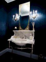 Dark Blue Powder Room