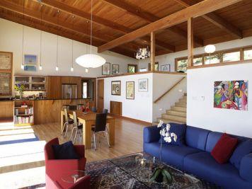 Design For Split Level Open Living Room