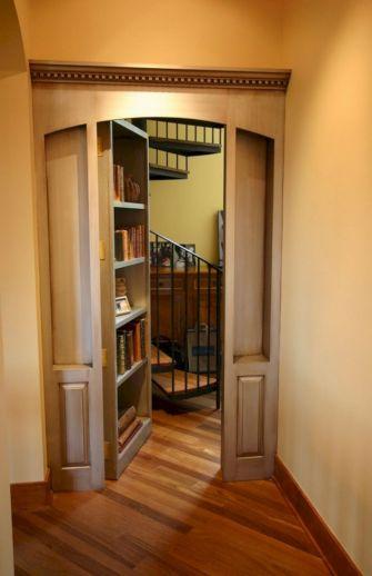 Hidden Bookcase Door Secret Room Idea