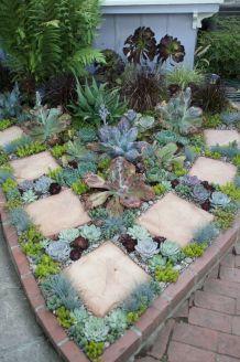 Outdoor Succulent Plant Garden 1