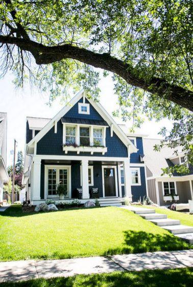 Rustic Exterior Home Paint Color Desain