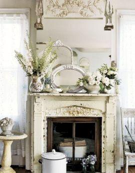 Vintage Fireplace Mantel Decorating Ideas