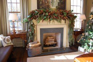 Christmas Mantel Decoration Ideas Fireplaces