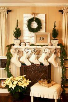 Fireplace Mantel Christmas Decorating Design Ideas