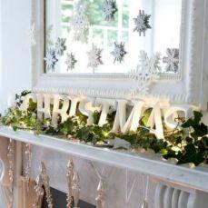 Fireplace Mantel Christmas Decorating Idea
