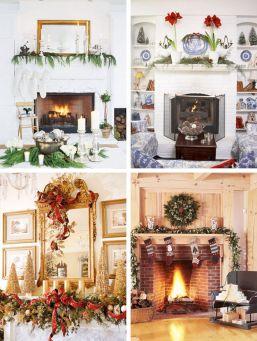 Fireplace Mantel Christmas Decorating Ideas