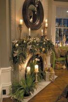 Fireplaces Mantel Christmas Decorating
