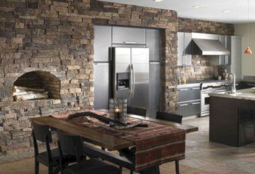 Stone Wall Tiles Kitchen