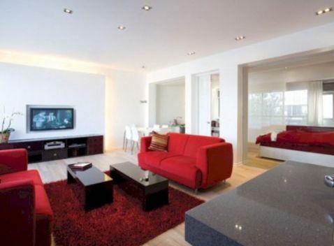 Black White Red Living Room Decor