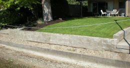 Concrete Stain Retaining Wall Block