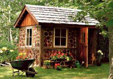 Cordwood Garden Shed