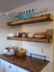 DIY Floating Shelf Kitchen