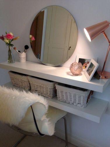 DIY Makeup Vanity Design Ideas 22