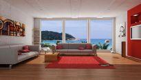 Red Modern Living Room Ideas