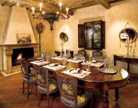 Rustic Tuscan Dining Room Ideas