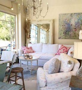 Shabby Chic Apartment Living Room 16