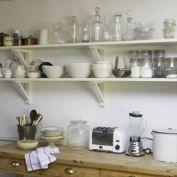White Kitchen Shelves