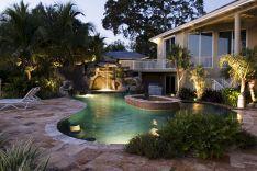 Back Yard With Pool Florida