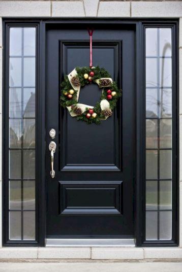 Black Front Door With Side Lights