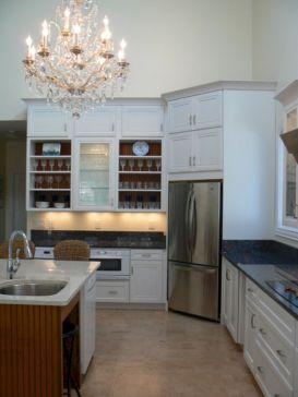 Corner Refrigerator Kitchen Designs