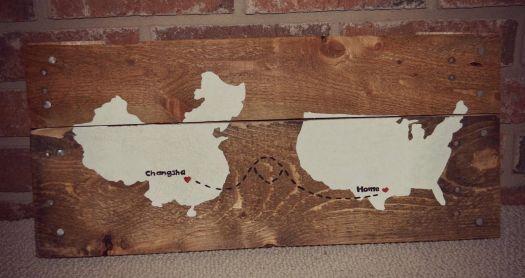 DIY Rustic Pallet Wood Wall Art