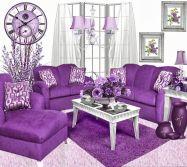 Purple Living Room Idea