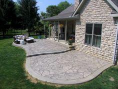 Stamped Concretes Patio Design