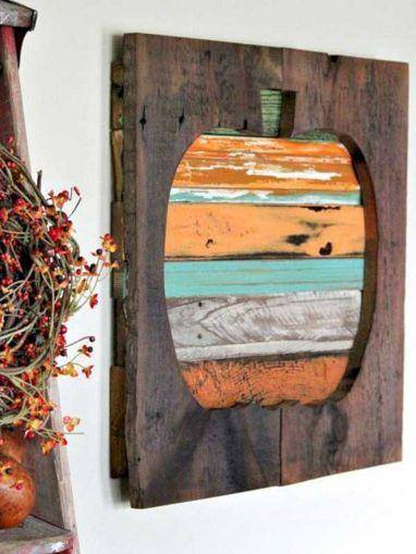 Wood Pallet Pumpkin Art