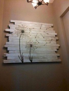 Wood Pallet Wall Art Dandelion