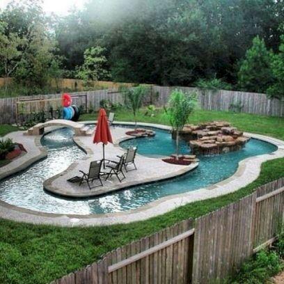 Back Yard Lazy River Pool Designs