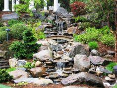 Backyard Landscape Waterfalls