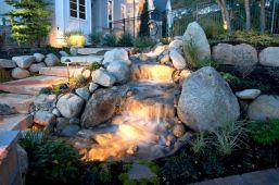 Backyard Waterfall Design Idea