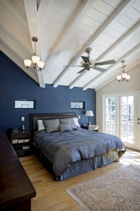 Dark Blue Bedroom