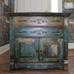 Distressed Oak Kitchen Cabinets