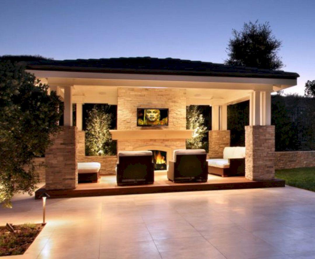 Backyard Living Space Design Ideas 4