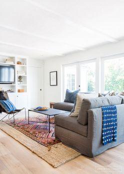 Living Room Rug Layering 119