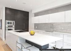 Contemporary White Kitchen Backsplash 112
