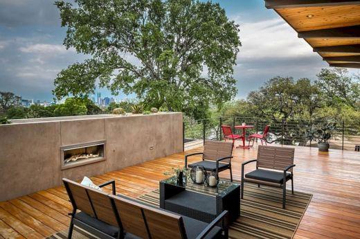 Mid Century Modern Outdoor Fireplace 17