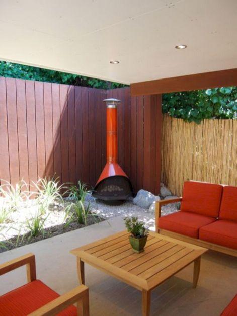 Mid Century Modern Outdoor Fireplace 23