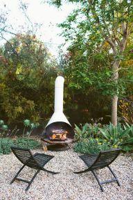 Mid Century Modern Outdoor Fireplace 26
