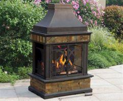 Mid Century Modern Outdoor Fireplace 3
